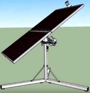 rastreador solar em 3D